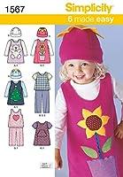 Simplicity Toddlers Sportswear-1/2-1-2-3-4 (並行輸入品)