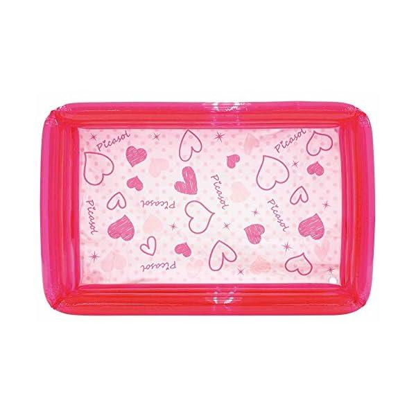 ドウシシャ ビニールプール 角形 ピンク 100cmの商品画像