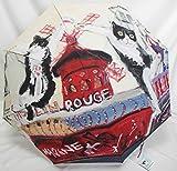 雨傘 Manhattaner's 婦人・女性用長傘 レディース アンブレラ ナナ ムーラン・ルージュ 29年新作です。「マンハッタナーズ ここじゃ、踊るほかないにゃ♪ 長傘」