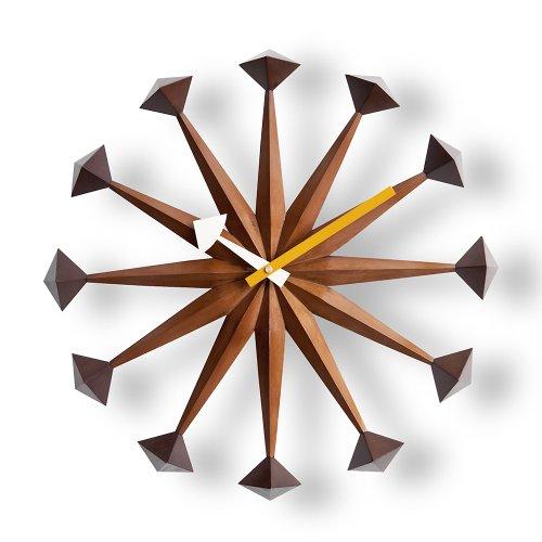 RoomClip商品情報 - DAIVA ジョージネルソン ポリゴンクロック (ウォールナットブラウン) 時計 掛け時計 デザイナーズクロック 壁掛け時計 リプロダクト