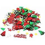 紙吹雪 クリスマスの象徴的なデザイン明るい色とりどり クリスマス 結婚式 誕生日 ホリデーパーティ 装飾セット(07)