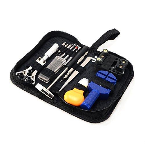 Moobom 腕時計 工具セット 時計修理 電池交換 ベルト調整 ミニ精密ドライバー付き 31点セット 収納ケース付き