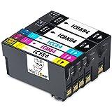 e62f7c6b5f 位, 【Miss Deer】5本セット Epson (エプソン)IC4CL84 BK×2/C/M/Y互換インクカートリッジ 4色パック  IC84-4PK + IC84BKブラック高品質【残量検知機能 対応 ...