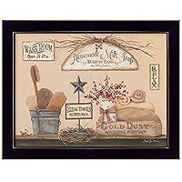 """ Wash部屋"" by Pam Britton、印刷壁アート、ハングアップする準備フレーム入りポスター、ブラックフレーム"
