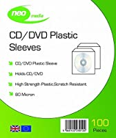 Neo Media CD/DVD Plastic Wallets - 100 Micron - High Quality - (100x Pack)
