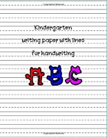 Kindergarten Writing Paper With Lines For Handwriting Abc: Handwriting Practice Paper Notebook With Dotted Lined Sheets For K-3 Students/notebook Kindergarten