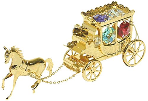 ロイヤルアーデン オブジェ スワロフスキーストーン付き 馬車 カラー 1361