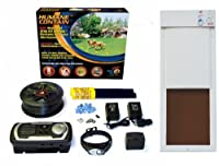 High Tech Pet Humane Contain X-10 Rechargeable Electronic Fence and Power Pet PX-2 Large Automatic Pet Door Combo by High Tech Pet