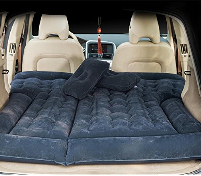 SUVエアベッド、GZD多機能インフレータブルカーマットレスバックシートキャンプスリープクッション、自宅、車、アウトドア用に調節可能な8つの独立したエアキャビンキャンプユニバーサル,Black