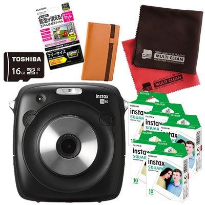 富士フィルム(FUJIFILM) インスタントカメラ チェキ instax SQUARE SQ 10 (50枚セット, キャメル)