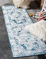 Unique Loom Sofia Collection Traditional Vintage Blue Runner Rug (3' x 20') [並行輸入品]
