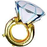 【ノーブランド品】アルミ 誕生日 プロポーズ パーティー 装飾 ダイヤモンド リング型 ホイル バルーン 風船