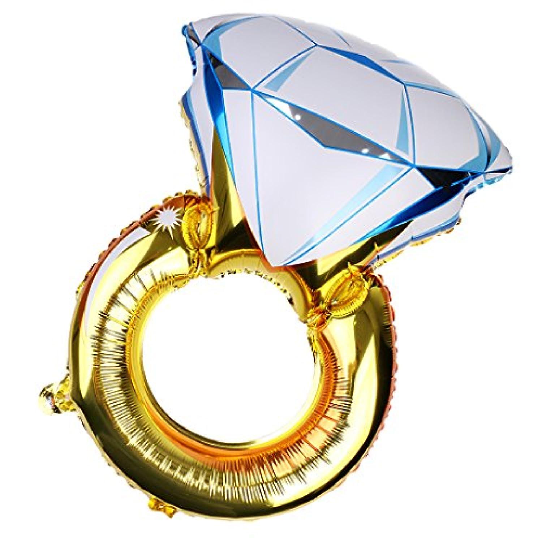 Blesiya 誕生日 プロポーズ 告白パーティーの装飾 ダイヤモンドリング 指輪型 アルミ バルーン 風船