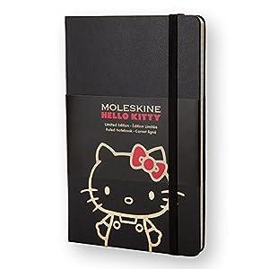 モレスキン ノート 限定 Hello Kitty ハード 横罫 LEHK01QP060 LG BK