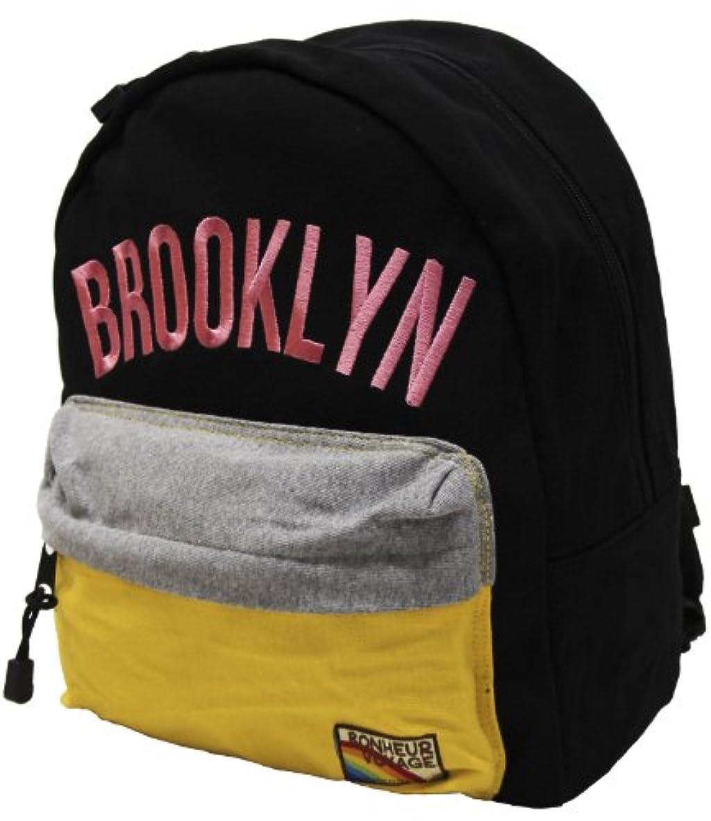成功したクリックコンペKIDS(キッズ) BROOKLYN(ブルックリン) ロゴ柄リュック(デイパック Dパック リュックサック) ブラック