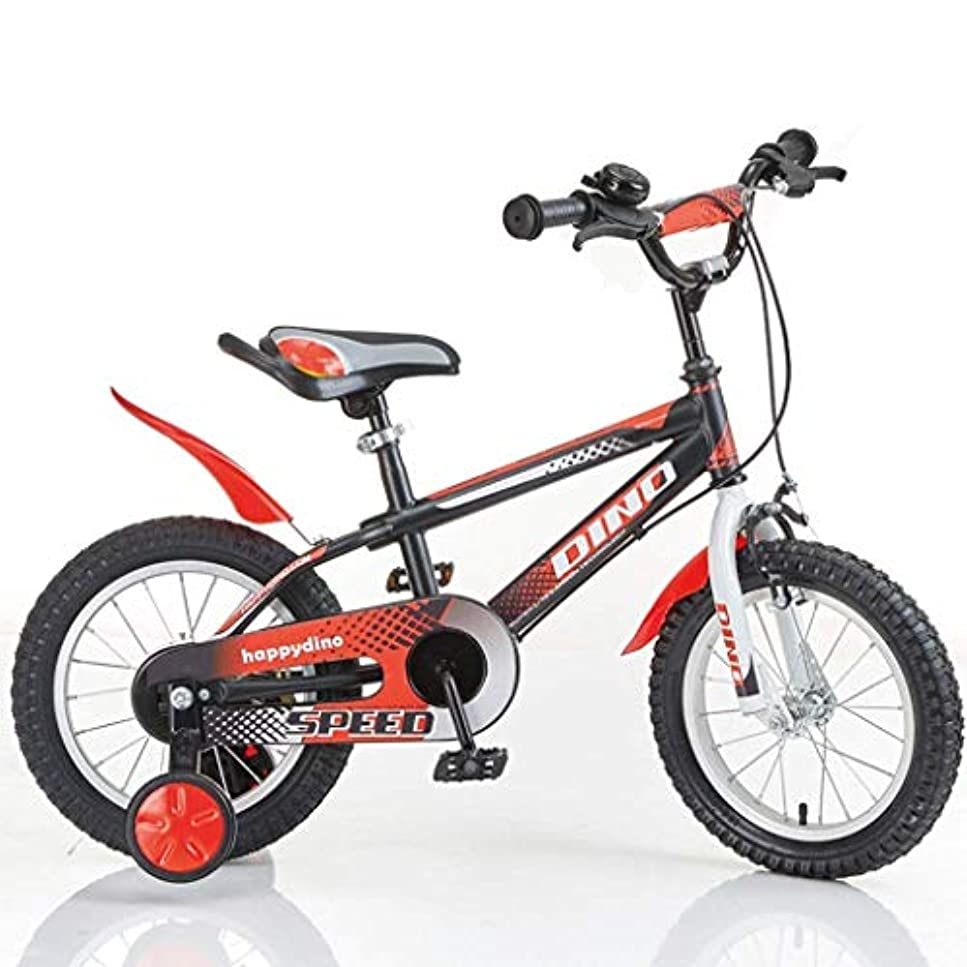 周り税金雄弁家自転車トラベル子供用自転車2-4 / 3-5 / 4-7歳ベビーバイク自転車12/14/16インチボーイベビーレッドブラック