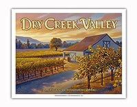 ドライ・クリーク・バレー・ワイナリー - ドライ・クリーク・ロード沿い - ノースコーストAVAブドウ園 - カリフォルニアワインカントリーアート によって作成された カーン・エリクソン - アートポスター - 28cm x 36cm