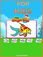 Fish Coloring Book for kids: 34 wonderful underwater animals  (8,5 X 11)