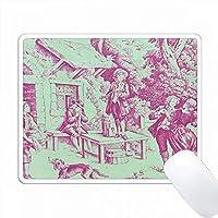 フランス農場Toile。人気のToileプリント。 PC Mouse Pad パソコン マウスパッド