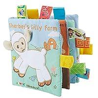赤ちゃんの学習と教育動物の刺繍柔らかい布の本動物の生地の本幼児の赤ちゃん早期教育の布書籍ヤギ