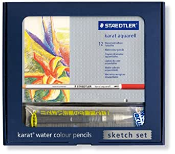 カラト アクェレル 水彩色鉛筆 スケッチセット 12色セット 125 SS12