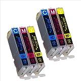 【カラー6本セット】 BCI-371XL-CMYx2 ( シアン/マゼンタ/イエロー )各色2本ずつ キヤノン 用 ICチップ付 増量版 【 互換インクカートリッジ 】 対応機種:PIXUS MG7730 / MG7730F / MG6930 / MG5730 / TS9030 / TS8030 / TS6030 / TS5030 / TS5030S