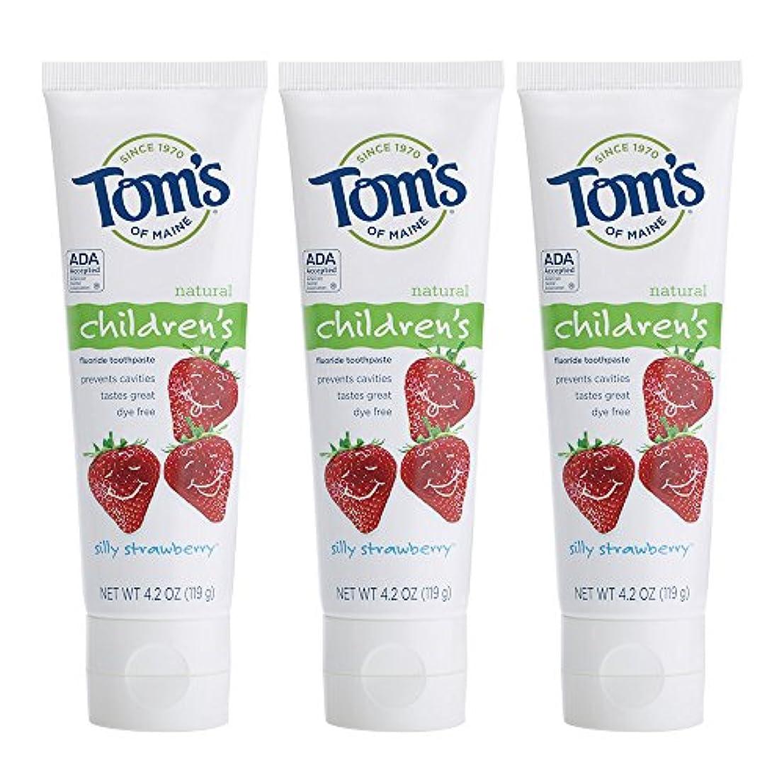ウェブトリップ気づくなるTom's of Maine, Natural Children's Fluoride Toothpaste, Silly Strawberry, 4.2 oz (119 g)