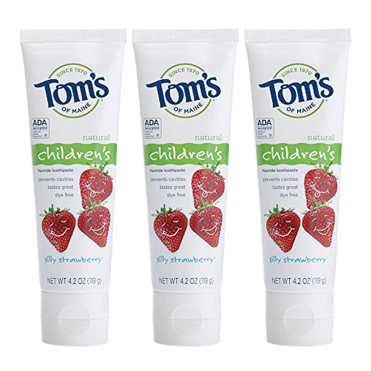 欺負荷またはTom's of Maine, Natural Children's Fluoride Toothpaste, Silly Strawberry, 4.2 oz (119 g)