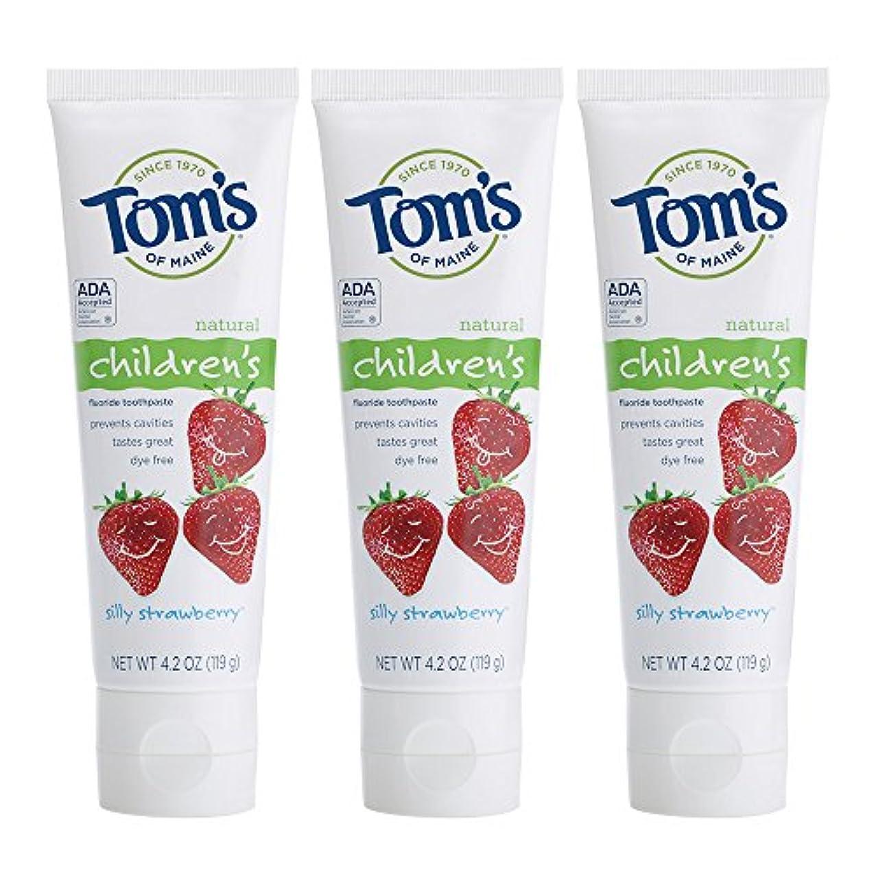 伝導小川ゴージャスTom's of Maine, Natural Children's Fluoride Toothpaste, Silly Strawberry, 4.2 oz (119 g)