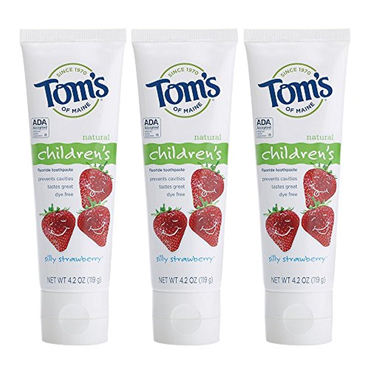 受取人適応的安価なTom's of Maine, Natural Children's Fluoride Toothpaste, Silly Strawberry, 4.2 oz (119 g)