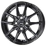 【適合車種:ホンダ N WGN(JH系 ターボ車)2013~ サマータイヤセット】 YOKOHAMA Bluearth RV-01 155/65R14 夏用タイヤとホイールの4本セット アルミホイール:HOT STUFF Gスピード G02_メタリックブラック 4.5-14 4/100 (14インチ サマータイヤセット)