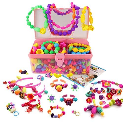 WTOR おもちゃ ビーズ アクセサリーキット DIY材料 手作り 知育玩具 メイキングトイ 女の子 子供のお誕生日プレゼント (700PCS)