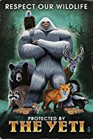 The Yeti and Wildlife 12 x 18 Art Print LANT-54025-12x18