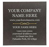 """大きな四角形ビジネスカード2.5"""" x2.5"""" 500枚入りフルカラー–チョコレートフロント、ホワイトBack ( 110ポンド。300gsm-classicマット仕上げ紙)"""