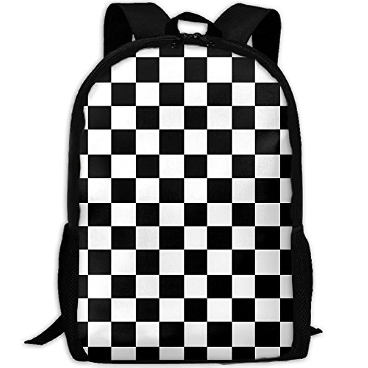 役に立たないコマースカスケードmalsjk8 checkerboard-black &ホワイトgrphic. Jpg防水スクールバッグ丈夫旅行キャンプバックパックforボーイズ、ガールズ