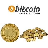 ゴールドBitcoins plastic-パックの50pieces