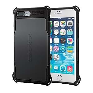 エレコム iPhone7 Plus ケース 【 米軍MIL規格取得 落下 衝撃 吸収 】 ZEROSHOCK 衝撃吸収フィルム付 ブラック PM-A16LZEROBK