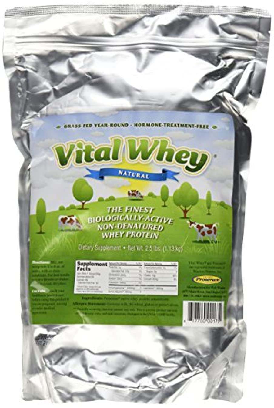拡声器供給言語Well Wisdom, Vital Whey, Natural, 2.5 lbs (1.13 kg)