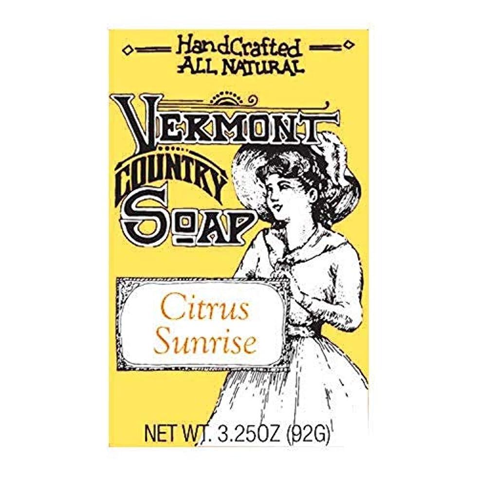品種エントリスタンドバーモントカントリーソープ (シトラスサンライズ) オーガニック石鹸 洗顔 92g