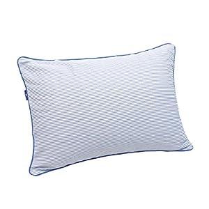 枕カバー 綿100% 丈夫でしなやか ツイル織り ストライプ 35×50cm ネイビー 16235NB