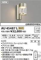 AU45487L 電球色LEDアウトドアポーチ灯