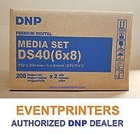 """2つのボックスDNP ds406x 8""""用紙&リボンメディアキットfor ds40プリンタ(合計800のプリント)。Comes with FREEサンプル当社売れ筋の写真フォルダ( eventprintersブランド)。"""