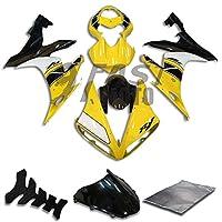 9FastMoto yamaha ヤマハ 2004 2005 2006 YZF-1000 R1 04 05 06 YZF 1000 R1 用フェアリング オートバイフェアリングキット ABS 射出成形セット スポーツバイク カウル パネル (イエロー & ブラック) Y0608