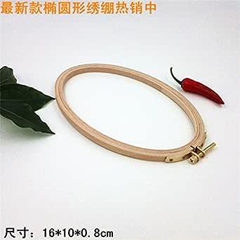 WRMHOM 6.3x3.95 インチ 楕円形 木製 刺しゅう枠 16x10cm (1PC)