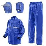 Amagoo (アマグー) お客様の声から生まれたレインアイテム [H2シリーズ] レインスーツ セパレート アップグレードモデル フード2種類セット (ブルー/青/SIZE-2)