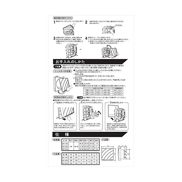 日本電興(NIHON DENKO) 一般換気扇...の紹介画像4