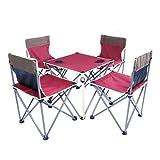 Fenka(フェンカ) 折り畳み アウトドア チェア テーブル 5点セット 椅子 背もたれ付き outdoor5set