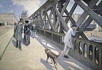 ヨーロッパの橋 1876 ギュスターヴ・ケイユボット (1848-1894フレンチ) キャンバス上の油絵 プチパライス ジュネーブ ポスタープリント (18 x 24)