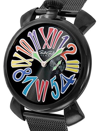 [ガガミラノ]GaGa MILANO 腕時計 スリム46mm ブラック文字盤 ステンレス(BKPVD)ケース ステンレス(BKPVD)ベルト 5082.1 メンズ 【並行輸入品】
