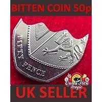 噛ん50PコインデビッドブレインMAGICをRESTORED (シルバースナック50ペンス)- BITTEN AND RESTORED 50p Coin DAVID BLAINE MAGIC (Silver Snack 50 pence)